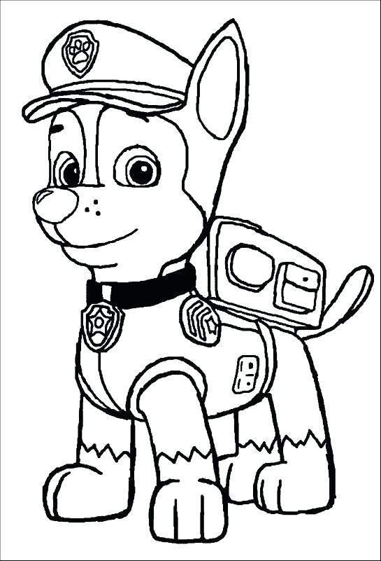 Chase Paw Patrol Drawing Free Download Best Chase Paw