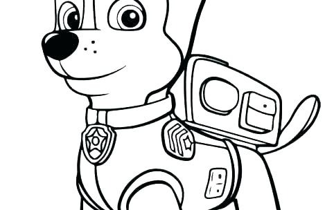 469x304 colouring pages paw patrol chase paw patrol chase coloring pages