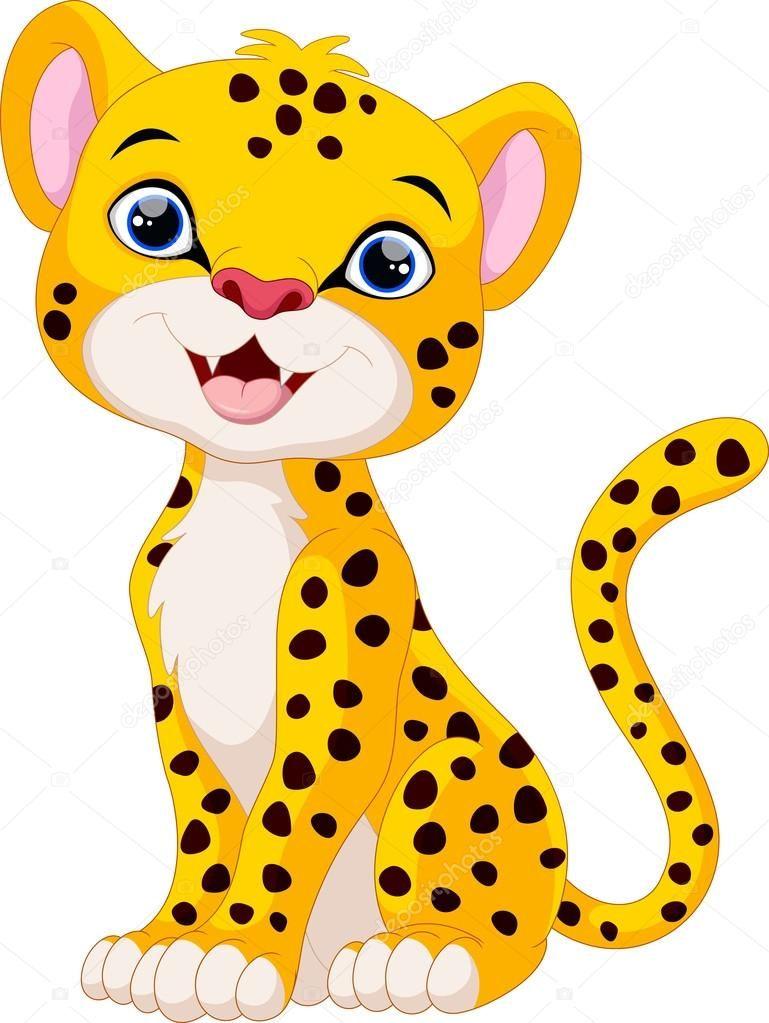 769x1023 Pin Oleh Di Animal Cheetah Cartoon, Cute Animals