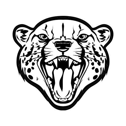 500x500 Cheetah Clip Art