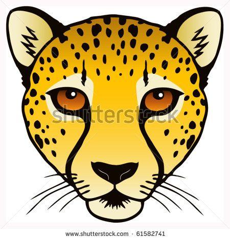 450x467 cheetah cheetah face, cheetah drawing