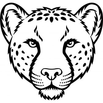 336x336 Cheetah Drawing Color Running Easy Step