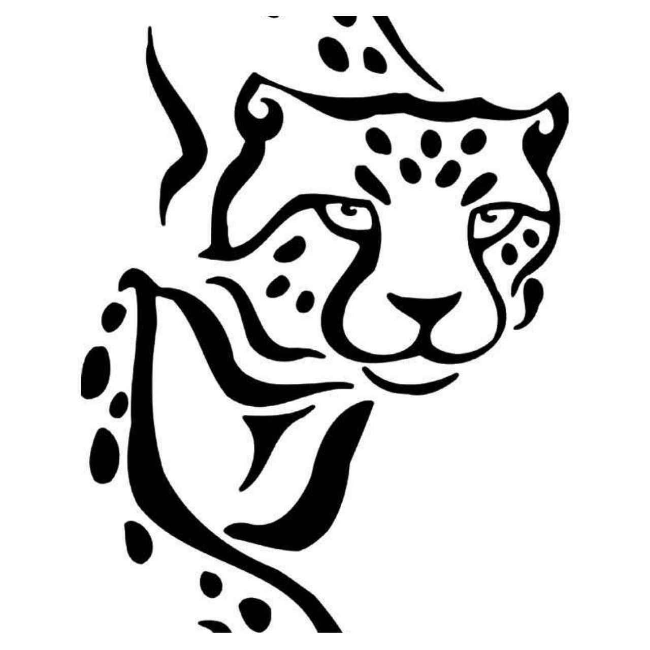 1280x1280 tribal cheetah vinyl decal sticker cats vinyl decals, tribal