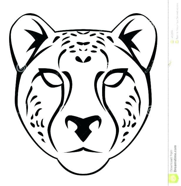 615x635 Cheetah Pictures To Color Print Coloring Pages Drawn Face Pencil
