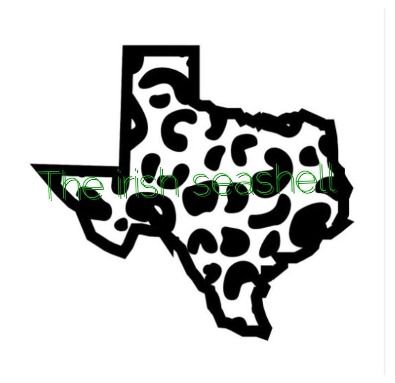794x769 Texas Cheetah Leopard Jaguar Print Dxf Texas Etsy