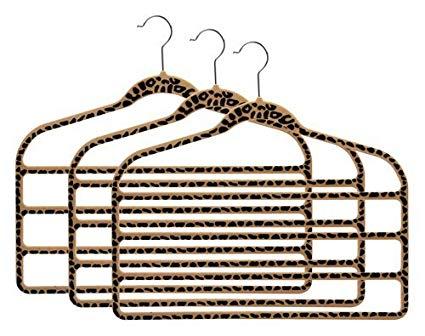 425x336 Slimline Cheetah Print Multi Pant Hangers