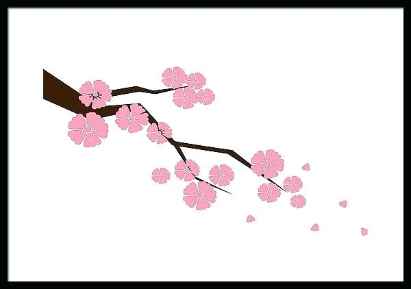600x422 How To Draw A Cherry Blossom Branch Step