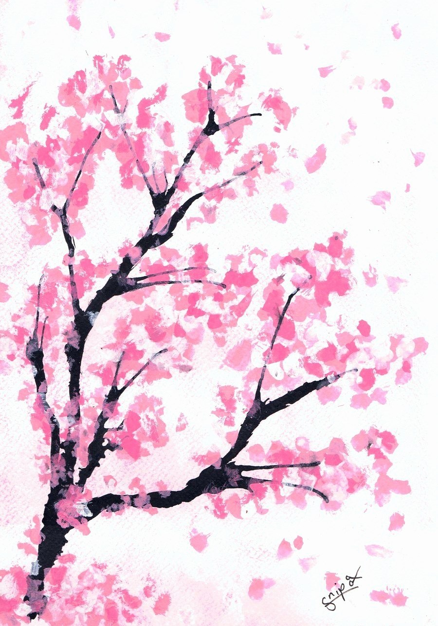 900x1286 Japanese Cherry Blossom Sketch Awesome Free Cherry Blossoms
