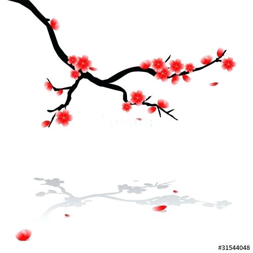 500x500 Cherry Tree Drawing Drawing Of Cherry Tree Weeping Cherry Tree