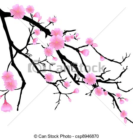 450x470 Cherry Blossom Drawings Clip Art