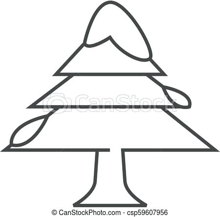 450x444 Christmas Tree Drawing Outline Outline Tree Image Result