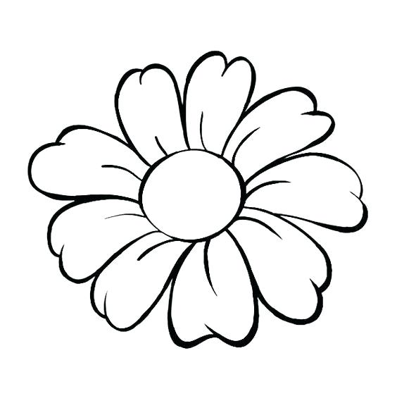 564x589 Flower Drawing Clipart Pansy Flower Drawing Flower Pot Clipart