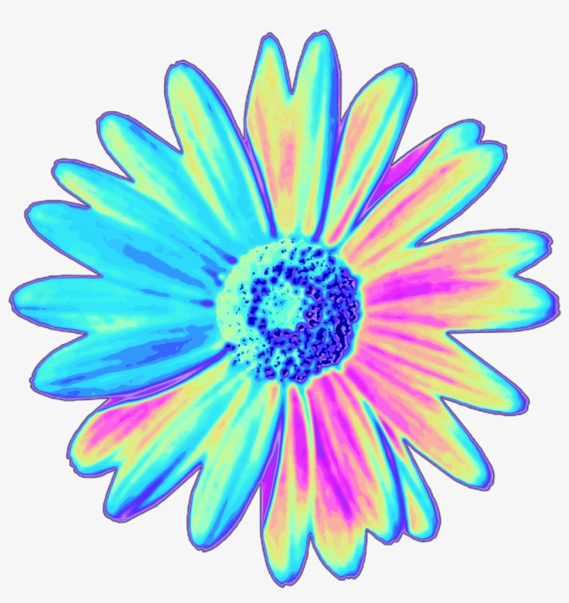 820x869 Daisy Holographic Flower Flower Holo Holographic Tumblr