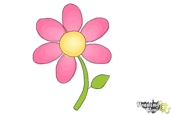 600x400 Flower Drawing Easy How To Draw A Flower Easy Step Flower
