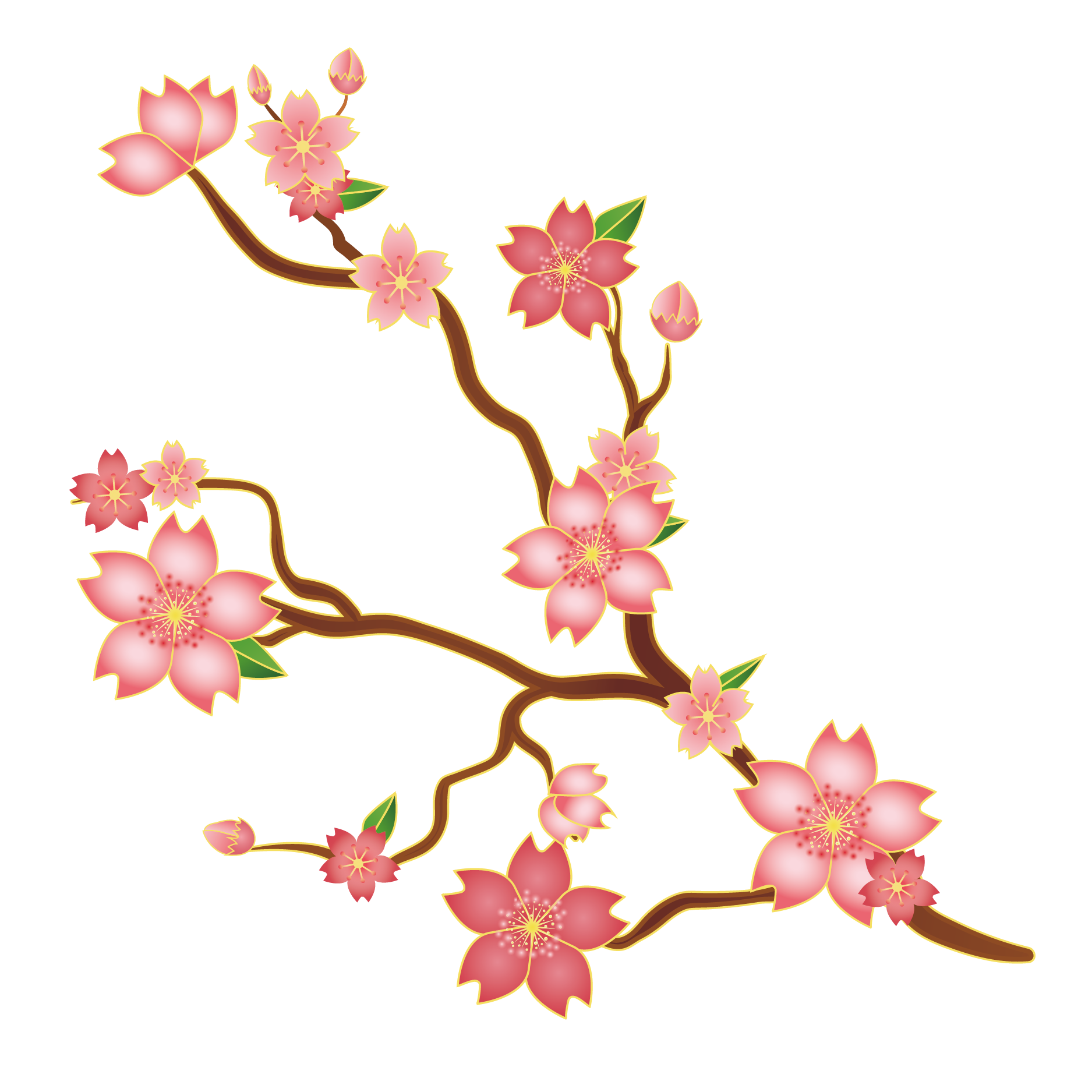 1875x1875 Collection Of Free Branches Clipart Sakura Flower Download On Ui Ex