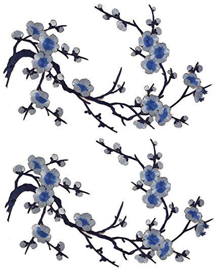 425x534 Emmas Two Asian Cherry Blossom Sakura Flower Iron