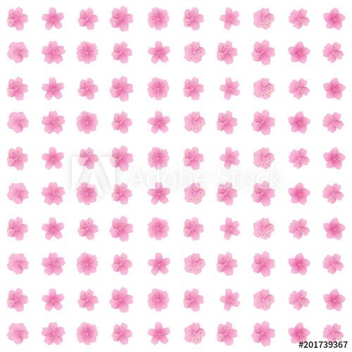 500x500 Sakura Flower Icon Set Cherry Blossom Flower Pattern Seamless