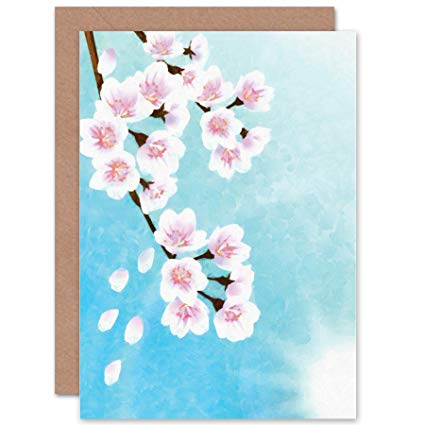 425x425 Wee Blue Coo New Cherry Blossom Floral Flower Painting
