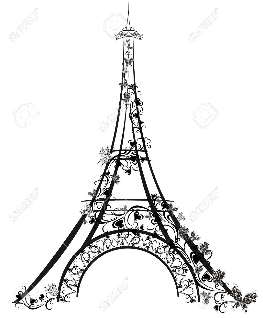 1075x1300 Paris Drawing Cherry Blossom For Free Download