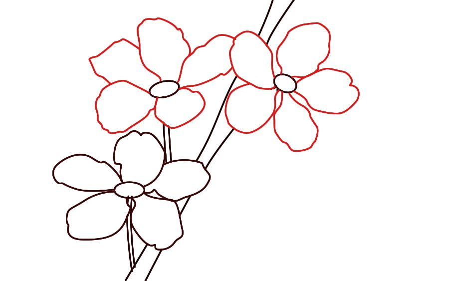 900x563 How To Draw Cherry Blossoms Craft Cherry Blossom