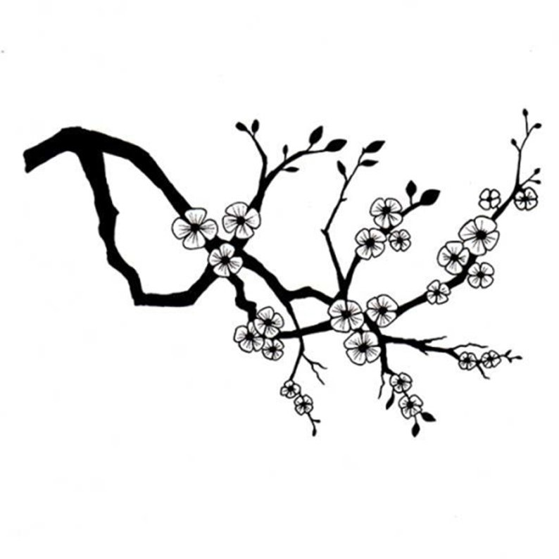 794x794 Lavinia Cherry Blossom Cling Stamp Cherry Blossom Stamp Etsy