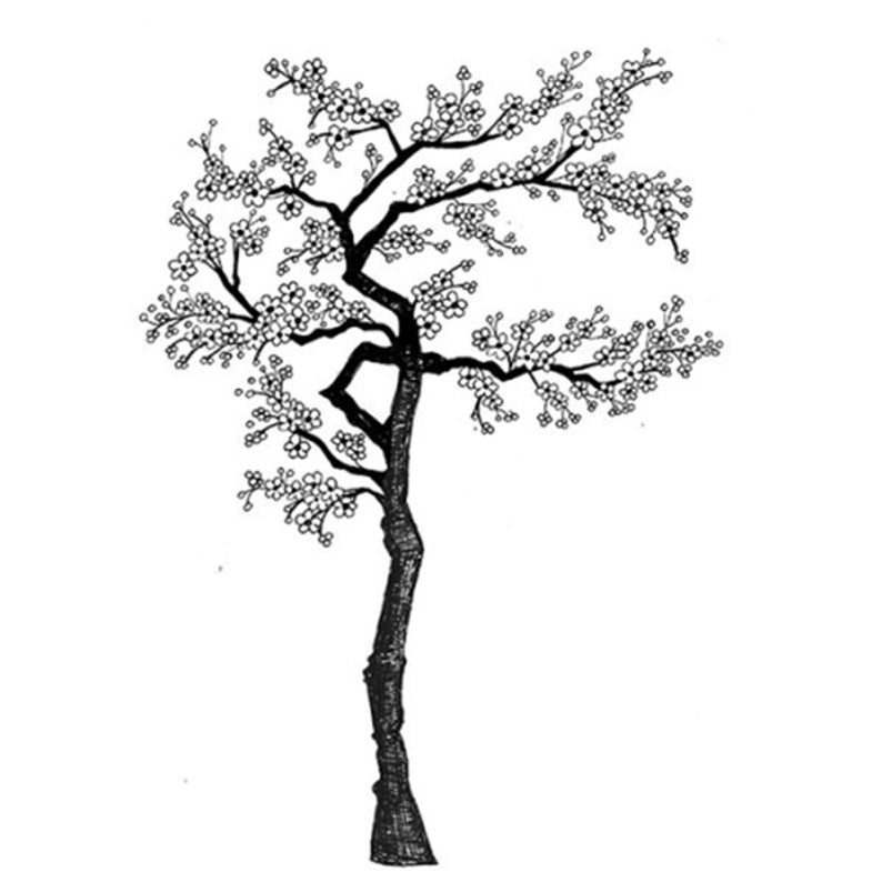 794x794 Lavinia Cherry Tree Cling Stamp Cherry Tree Stamp Clear Etsy