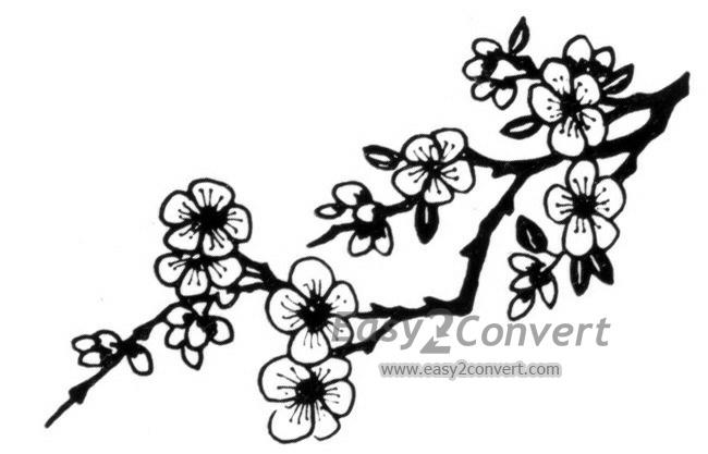 650x417 Stamp Chinese Cherry Blossom Branch