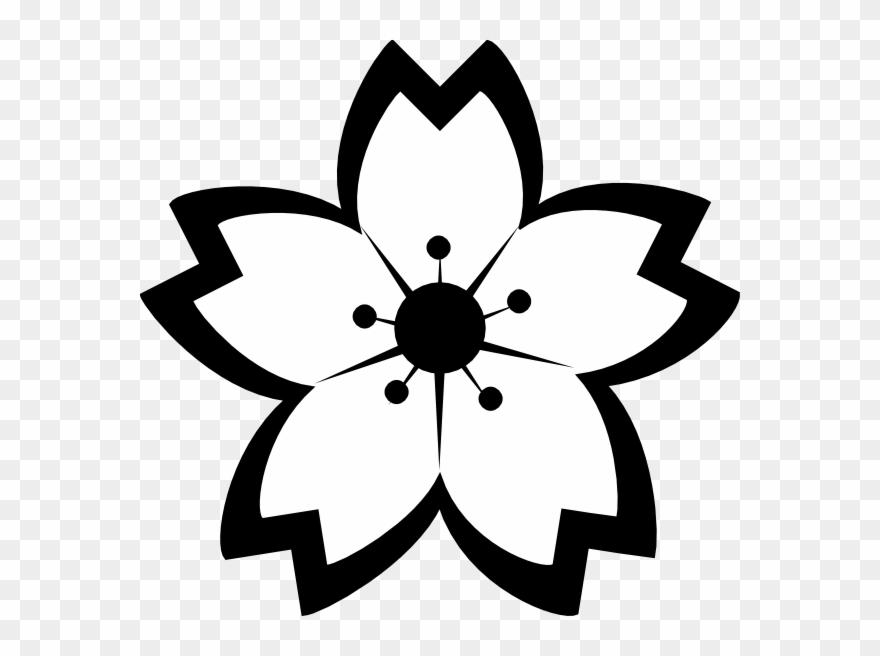 880x656 Black And White Cherry Blossom Clipart