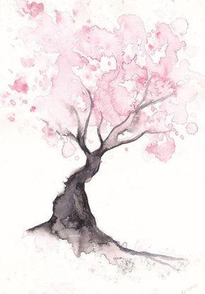 290x415 spring cherry blossom tree home decor art print gift bedroom decor