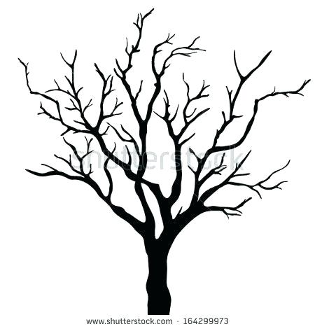 450x470 Winter Tree Drawing Vectors Illustration Of Winters Tree Covered