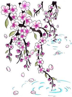 300x404 Japanese Cherry Blossom Tattoo Designs Cherry Cherries