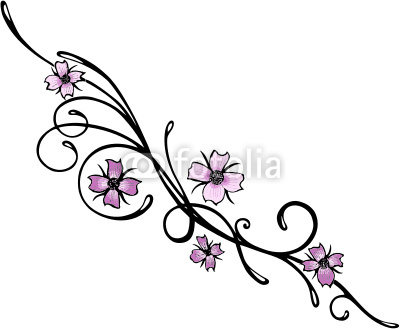 400x329 Tribal Japanese Cherry Blossom Tattoo Drawing
