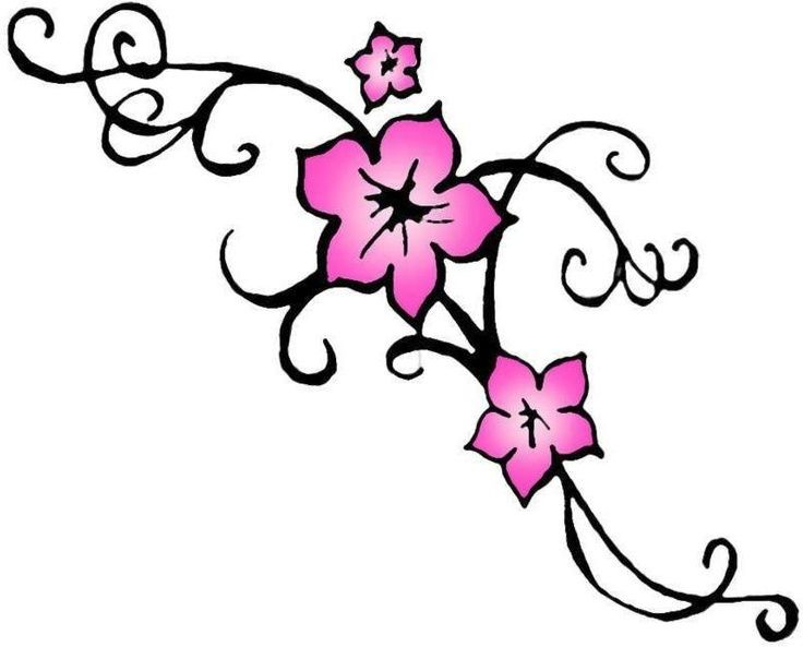 736x593 Tribal Cherry Blossom Tattoo Drawing And Commercial Drawing