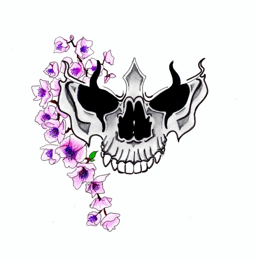 887x900 Blue Cherry Blossom Tattoo Design Tattoo Ideas