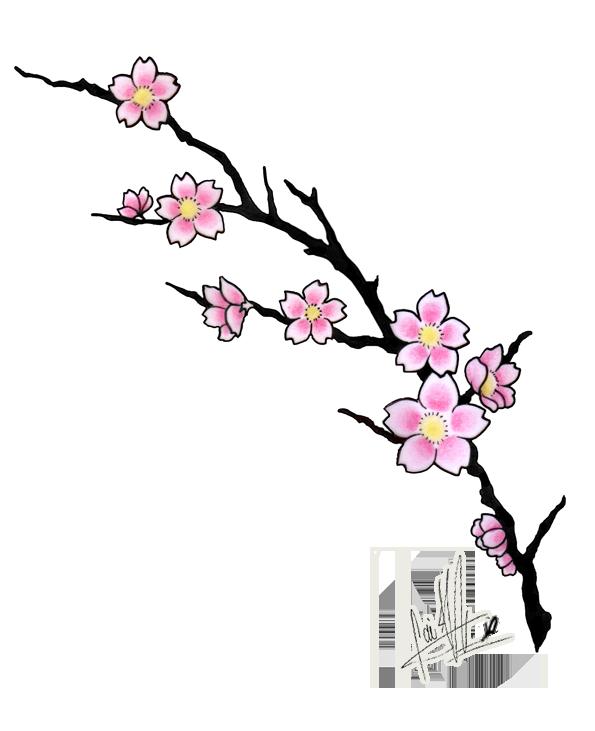 595x731 Cherry Blossom Tattoos, Designs And Ideas