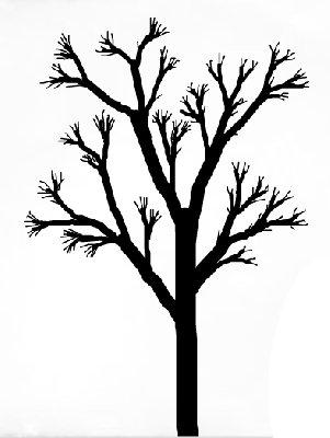 301x400 Drawn Dead Tree Cherry Blossom