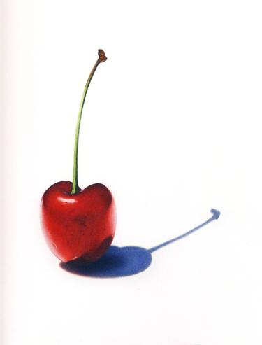 375x493 The Red Cherry Drawing
