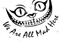 Cheshire Cat Smile Drawing