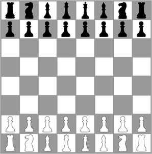 Chess Board Drawing