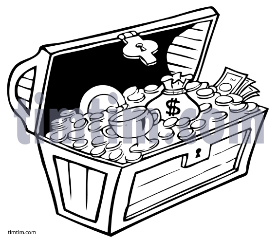 571x493 Free Drawing Of A Pirate Treasure Chest Bw From The Category
