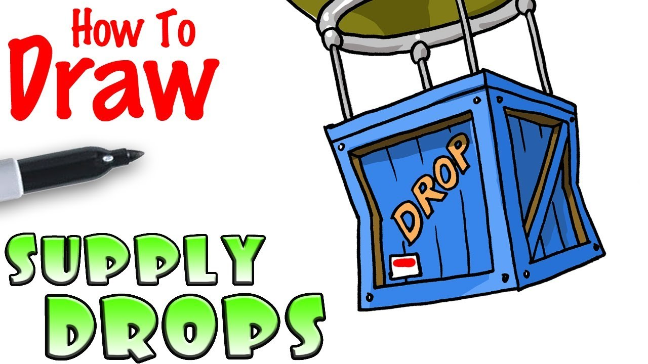 1280x720 How To Draw The Supply Drop Fortnite