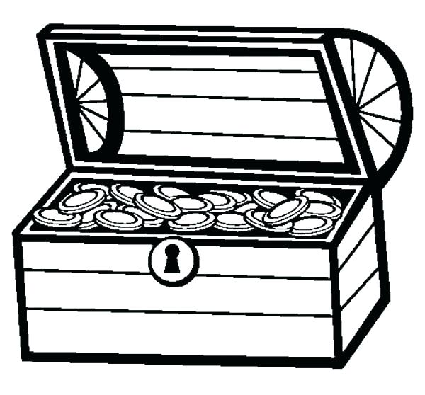 600x558 Chest Drawing Treasure Chest For Free Download