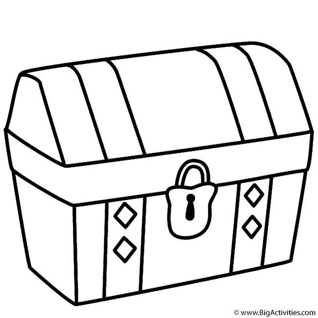 650x650 Chest Drawing Opened Chest For Free Download