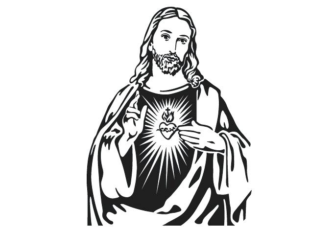 680x472 Black And White Drawings Of Jesus Christ Line Free Download Clip