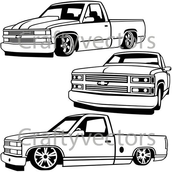 570x570 chevy lowered custom trucks products custom trucks, custom