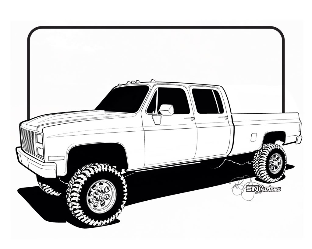 Chevy Truck Drawings | Free download on ClipArtMag