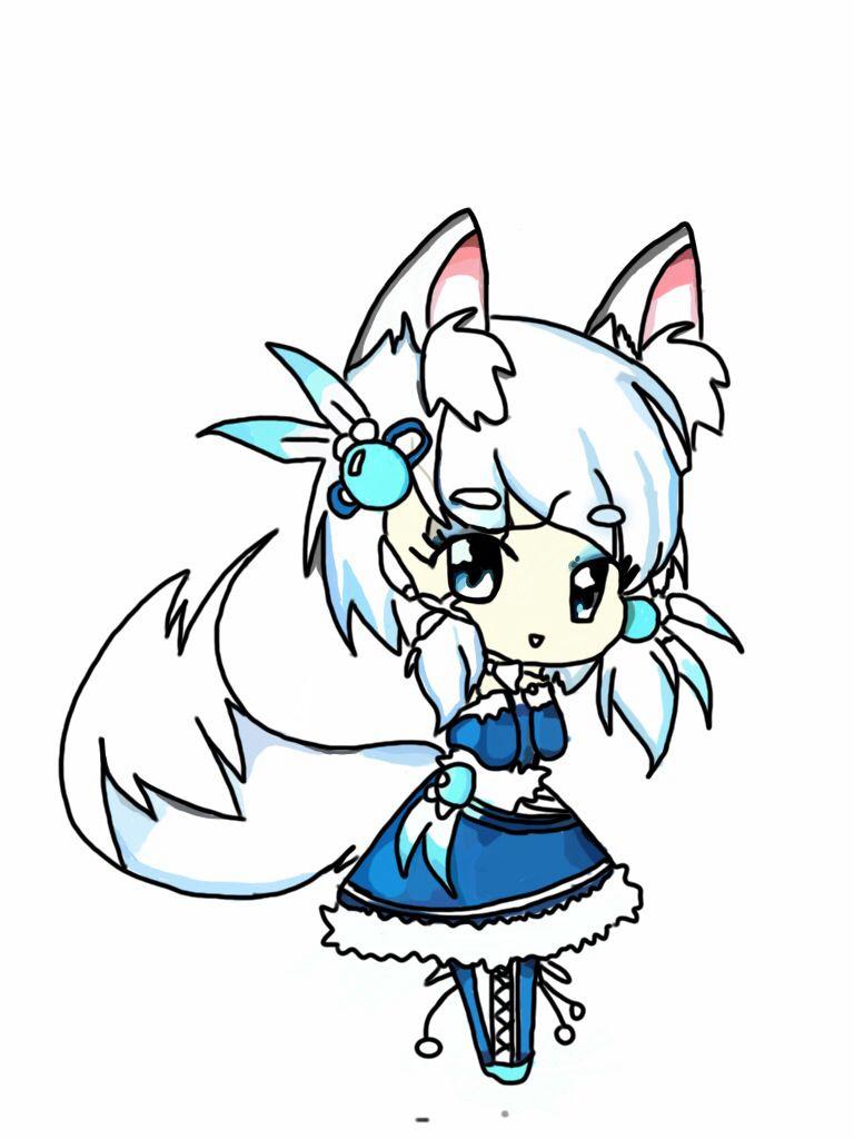 768x1024 my chibi anime wolf girl elizabeth anime wolf girl, anime