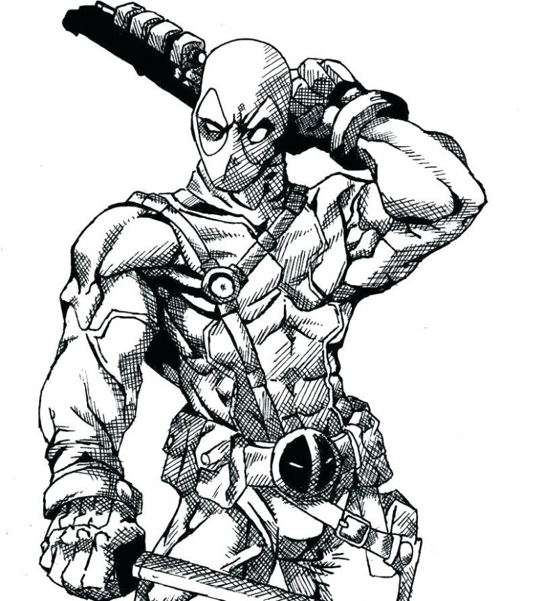 782x864 chibi deadpool coloring pages fabulous collection of deadpool