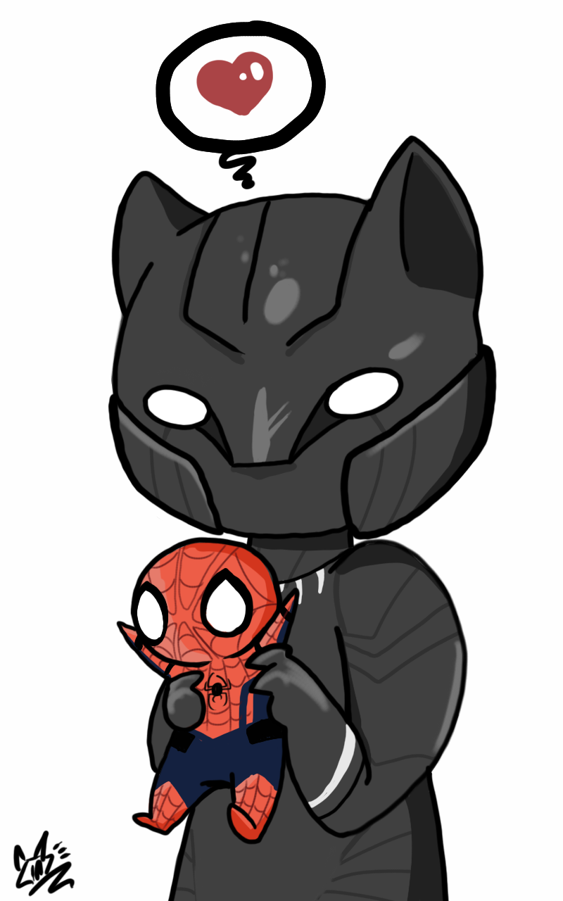 800x1280 Finally Got A Chibi Black Panther Head Design That Doesn't Look
