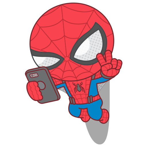 512x512 Geek Art Cute Little Spider Man Rushing Into Action